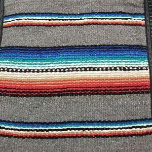 El Paso Saddleblanket Bags - El Paso Saddleblanket Gray Rio Bravo Serape Bag